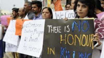 "The Human Rights Commission of Pakistan say 869 so-called ""honour killings"" were reported last year [EPA]"