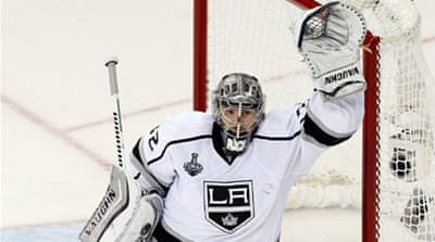 Quick recorded his second shutout in these playoffs and ninth overall in the postseason [AFP]