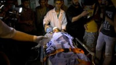 The Israeli air strike that hit in Beit Lahia injured two people, including a child [AFP]
