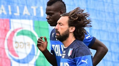 Juventus midfielder Andrea Pirlo is Italy's key player and directs their speed of play [AFP]