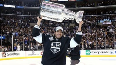 It is the Kings' second title in three years after winning the 2012 Stanley Cup [AFP]