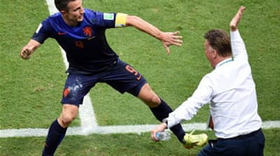 The Dutch were euphoric after the win that helped avenge their defeat by Spain in the 2010 World Cup final [AFP]