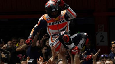 Marquez leads the driver's championship with 175 points, ahead of secon-pace Rossi on 117 points [AFP]