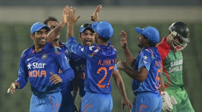India seamer Stuart Binny, playing his third ODI, recorded figures of 6-4 off 4.4 overs [AFP]