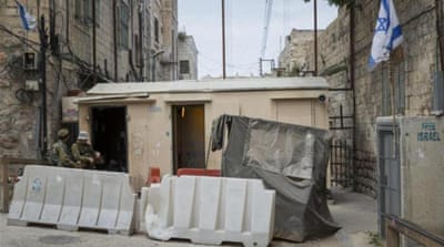 An Israeli military checkpoint in the old city in Hebron, West Bank [Getty Images]