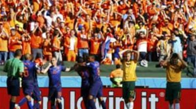 Every time Australia scored, the Dutch came roaring back almost straight away [Reuters]