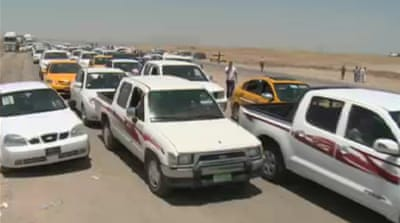 Iraqis flee violence to Kurdish areas