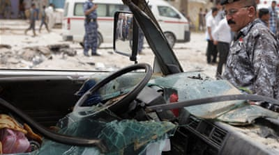 Monday's worst attack was in the southern city of Najaf [AP]