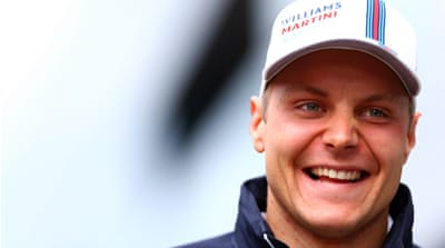 Finland's Bottas posted a best time of 1 minute 09.848 seconds, besting Hamilton by 0.050 second [GALLO/GETTY]