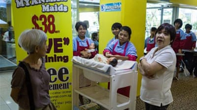 Buy a discount maid at Singapore's malls