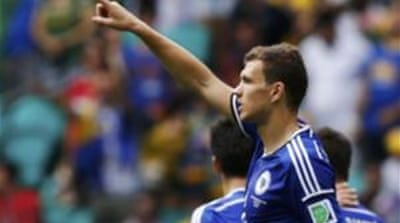 Dzeko had put Bosnia-Herzegovina in the lead [Reuters]