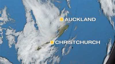 Thick cloud and heavy rain has affected much of New Zealand over the past two days [Al Jazeera]