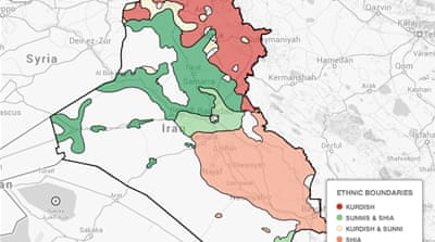 Mapping Iraq's fighting groups
