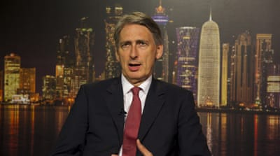 Philip Hammond says the United Kingdom has 'ruled out' direct military action in Iraq [Al Jazeera]