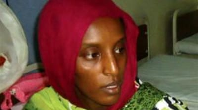 Mariam Ibrahim and her two children are at the US embassy in Khartoum [FILE: AP]