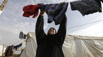 In many cases, Syrian women have become the primary breadwinners for their families in Lebanon [AP]