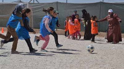 Syrian refugees find normalcy in football