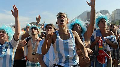 Argentina fans 'invade' Brazil with new chant