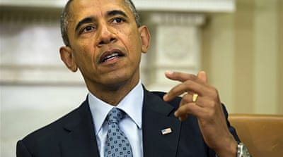President Obama says the troops will stay in Iraq until the security situation in the country improves [AP]