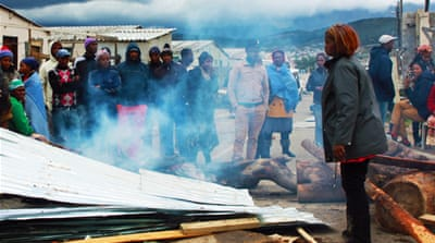 In Pictures: Outrage over S Africa evictions