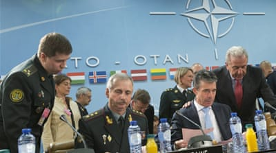 The NATO leaders insist they are acting within the limits of a key post-Cold War treaty with Moscow [AP]