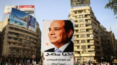 Sisi's road to the presidency began with the overthrow of Egypt's first freely elected president Mohamed Morsi [AFP]