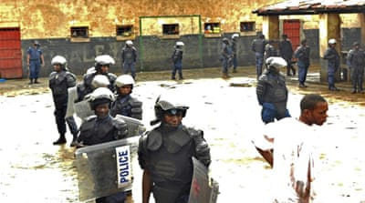 At least 1,600 prisoners were in the prison in the city of Bukavu at the time of the breakout [File:AFP]