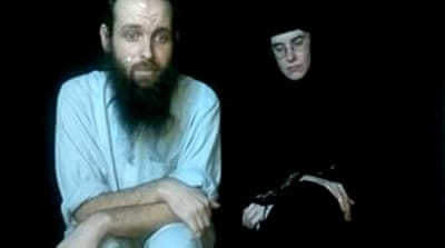 The families released the clips after the publicity surrounding the rescue of US soldier Bowe Bergdahl [AP]