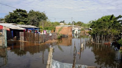 Thousands  continue their struggle with the aftermath of heavy rains and overflowing rivers across Paraguay [AFP]