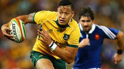 Folau scored a try of his own and played a key role in the try of the night from Nick Cummins [Getty Images]