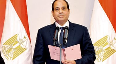 Egypt's president vows to defeat 'terrorism'