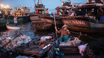 Vietnamese fishermen left out to dry
