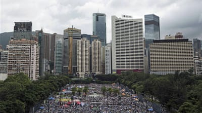 Thousands stage Hong Kong pro-democracy march