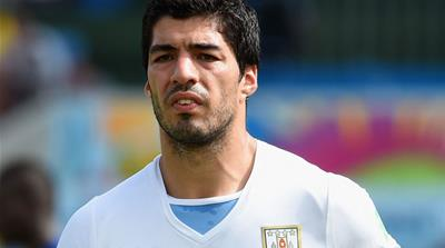 Suarez will have no involvement in football until the end of October after biting an Italian opponent [GALLO/GETTY]