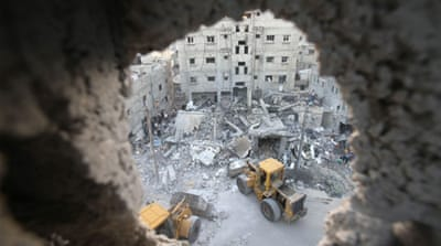 At least 98 Palestinians have been killed and hundreds wounded since the campaign began [Reuters]