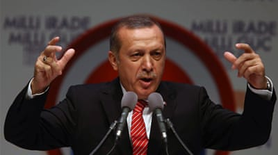 Erdogan has promised to work towards a new Turkish constitution if elected president [AP]