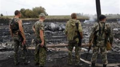 Ukraine and Russia have traded blame over the shooting down of Malaysian passenger jet MH17 [Reuters]