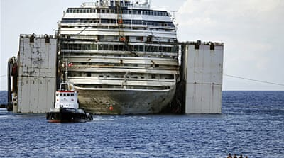 The ship will be towed to Genoa port where it will be dismantled and scrapped [AP]