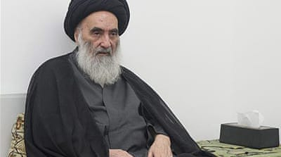 Grand Ayatollah Ali al-Sistani said it was time for politicians to think of Iraq's interests, not their own [AP]