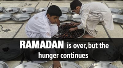 Ramadan is over, but the hunger continues