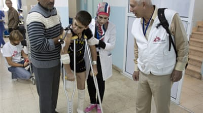 Ramtha Hospital has treated 24,000 Syrians in the past year [Courtesy: Medicins Sans Frontieres]