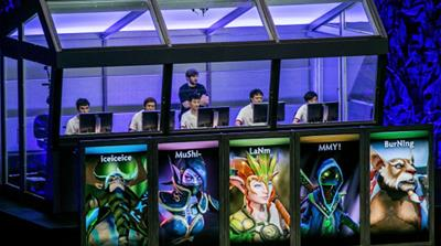 A League of Legends tournament sold out Los Angeles' 18,000-seat Staples Centre last October [AP]