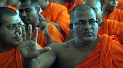 Gnanasara has denied charges and blamed Muslim leaders for the June violence [File - EPA]
