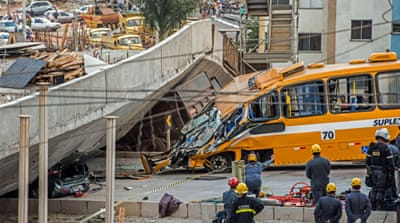 Deaths as overpass collapses in Brazil city