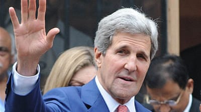 Kerry is on a three-day visit to improve bilateral ties, with nuclear energy and trade topping his agenda [EPA]