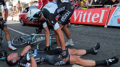 Cavendish was aiming for a 26th Tour de France stage victory [AFP]