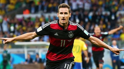 Miroslav Klose struck to become the World Cup's all-time leading scorer with 16 goals [GALLO/GETTY]