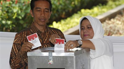Indonesia's Jokowi urges no poll celebrations