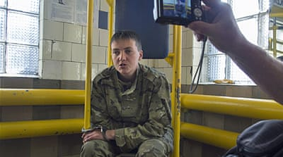 Savchenko is now in a Russian detention centre but it is unclear how she got there [AP]