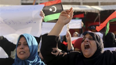 Protesters gathered in Tripoli's central Martyrs' Square to protest against the newly elected parliament [Reuters]